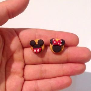 Mini Mause ve Mickey Mause Figürlü Küpeler