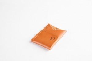 El Yapımı Gerçek Deri Zarf Tipi Mini Kartlık