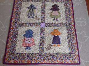 İki Kız İki Köpekli Oğlan Bebek Battaniyesi