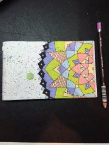 Çift Taraflı Mandala Not/Eskiz Defteri