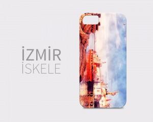 İzmir İskele - Suluboya Efektli Telefon Kılıfı