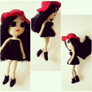 Kırmızı Şapkalı Amigurumi Kız