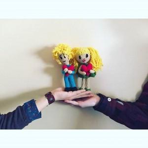 Sarışın Aşık Çift Amigurumi