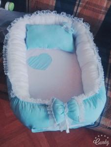 Kalpli Mavi Babynest (Bebek Yuvası)